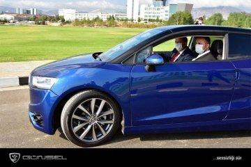 KKTC'nin milli otomobili test sürüşünde