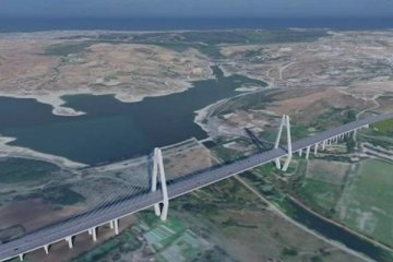 Kanal İstanbul'un ilk köprüsünün temeli atıldı