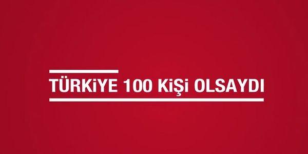 Eğer Türkiye 100 kişi olsaydı